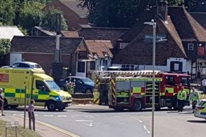 air ambulance called to serious collision in ashford