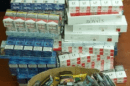 Around 145,000 illegal cigarettes were seized from Chatham businesses following a series of warrants organised by Kent Police
