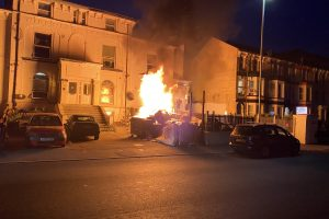 fire crews called to rubbish ablaze in dover