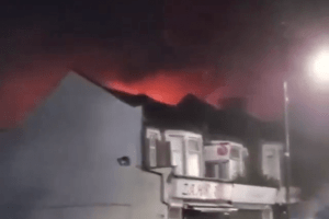 fire crews tackle large blaze that broken out in east london