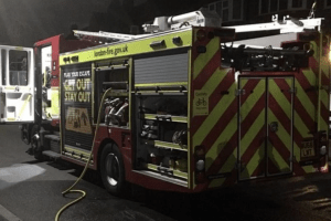 fire fighters called to blaze on the kingswood estate in south east london