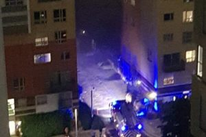 four fire crews have been called to tackle blaze in greenwich village