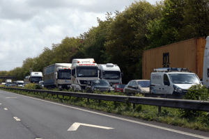 long delays on the m2 in kent following a collision blocking all lanes
