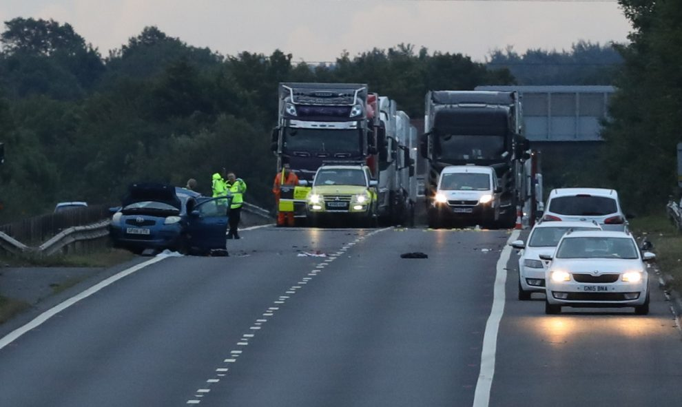 M2 motorway remains closed London bound following fatal  collision