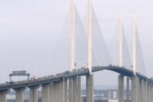 m25 dartford queen elizabeth ii bridge closed following a collision