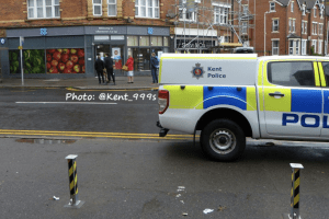 man runs into shop screaming for help after stabbing in folkestone