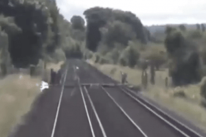 network rail is urging walkers crossing the lines to use common sense and take care