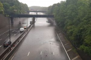 the m25 in surrey is closed