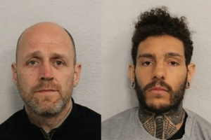 two men have been jailed after specialist officers seized three firearms 14000 in cash and a large quantity of class a drugs in south london