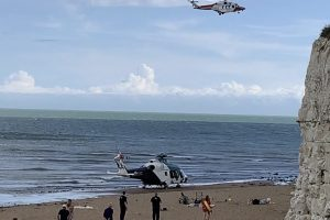 Woman airlifted after cycling  off the edge of a cliff in Kent