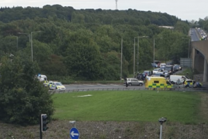 a20 in sidcup remains closed after a man has died in a fall from a bridge