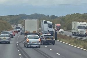 delays on the m20 after lorry jack knives