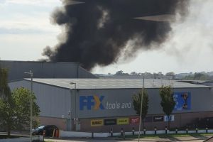 large fire reported on ashford industrial estate