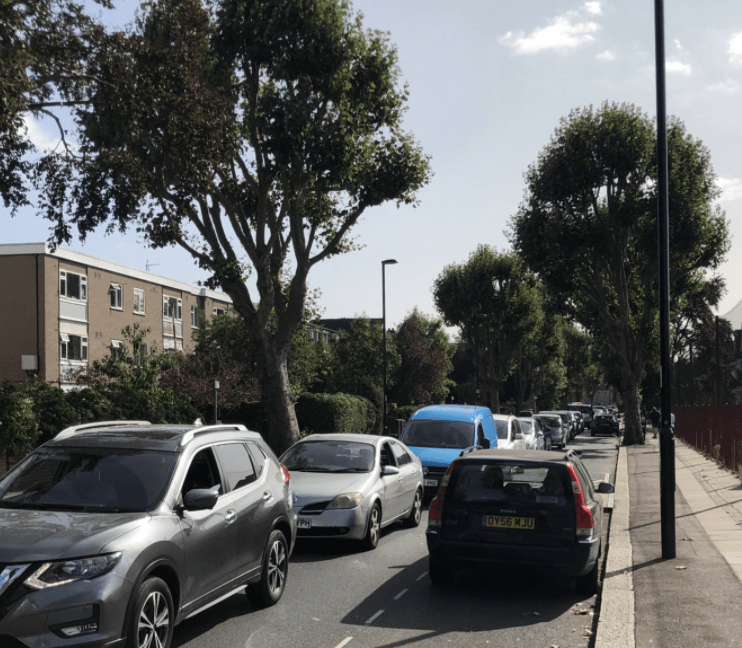 massive gridlock in catford after new covid testing centre is opened