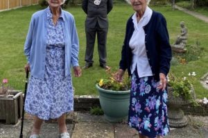 mayor of medway wishes centenarian twins from rochester happy birthday