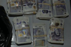 more than 1m has been recovered from two lorries trying to leave the uk