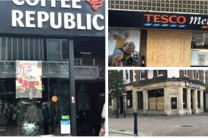 man charged after damaging windows of eights shops and a pub in gravesend