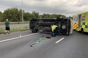 no serious injuries after a2 rollover