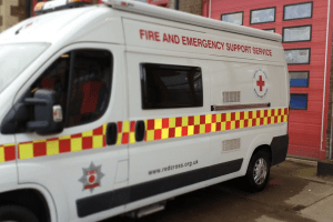 of all the vehicles a thief would think about stealing red cross volunteers in northants say theirs should be low on the list