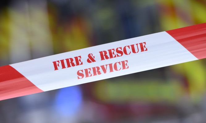 one person was treated at the scene for minor burns to his feet and leg before being passed into the care of paramedics