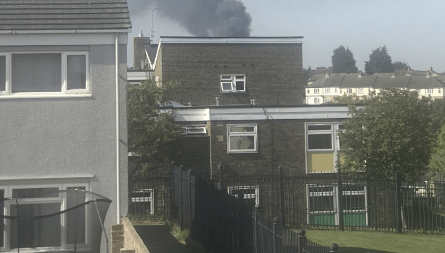 Out-of-control bonfire in  Chatham tackled by fire crews