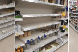 some supermarkets and stores have already implemented plans to limit the amount of items purchased per customer