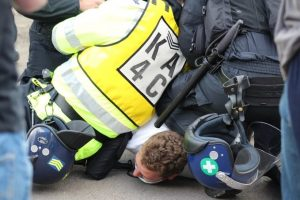 six men have been charged following protests relating to migration in dover