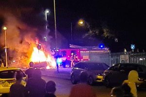 three taken to hospital after lpg car explosion