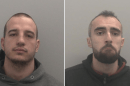 two men have been jailed for over 14 years after being caught in a gun handover in rochester in kent