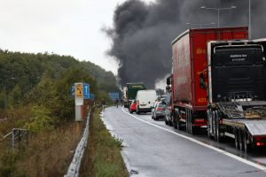 updated m2 londonbound close following vehicle ablaze 2