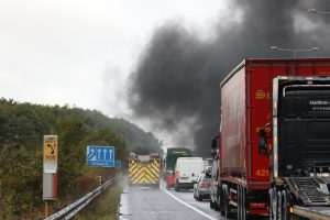 updated m2 londonbound close following vehicle ablaze