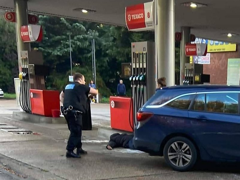 driver tasered by kent police at filling station in orpington