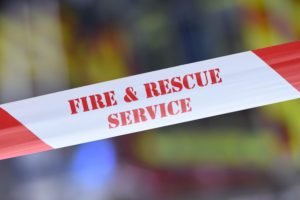 fire crews tackle fire due to to an electrical fault