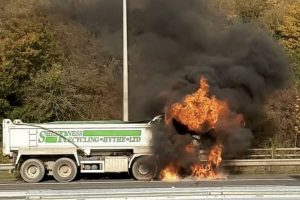 luckily no one was injured after this hgv on the m2 in kent