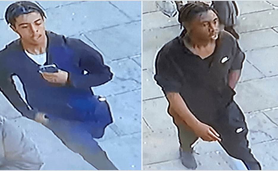 police say they want to identify two males allegedly involved in a robbery
