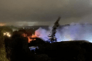 six fire engines and a bulk water carrier were sent to multiple industrial units alight