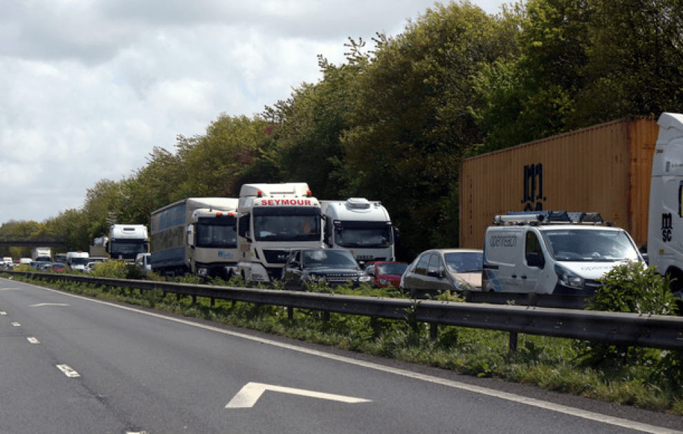 the m20 in kent is closed westbound between j6 and j5 due to a serious collision