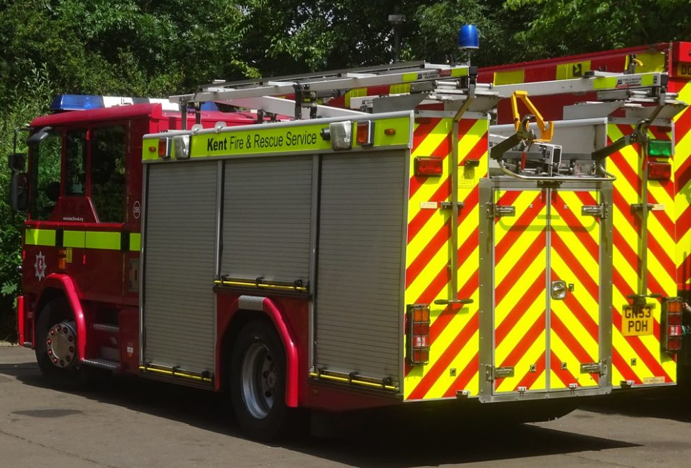 three fire engines attended and crews used hydraulic equipment to remove the doors of one of the vehicles involved