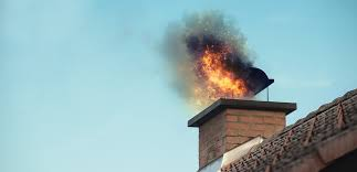 two fire engines attended and crews used chimney gear to extinguish the flames at the house in well street