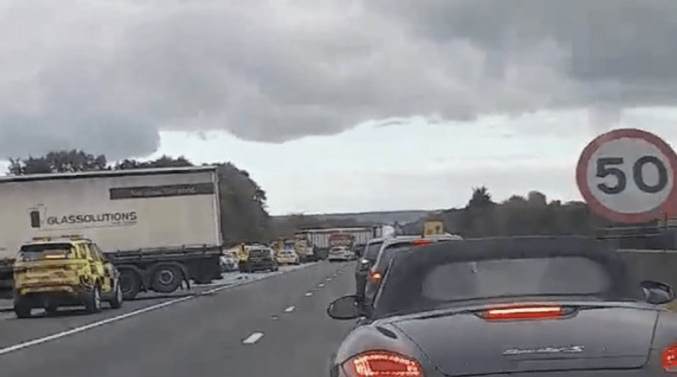 two men dead one critical after fatal collision on the m26 motorway in kent