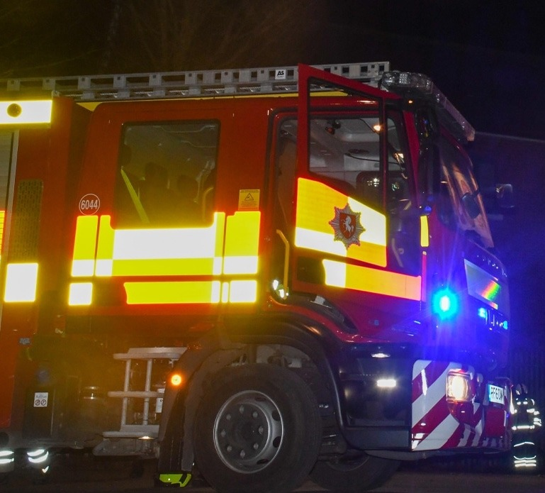 kent fire and rescue service was called to reports of a shed fire on cooper street farm road in canterbury