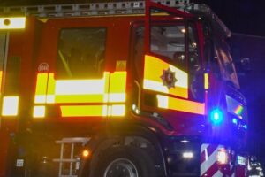 Kent Fire and Rescue Service was called to reports of an outbuilding alight on Crow Drive in Halstead, Sevenoaks