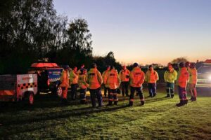 Multi agency rescue sparked to free Pensioner  trapped in the mud in Gillingham