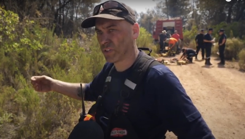 UK firefighters tackling the wildfires in Greece are in Peloponnese, Southern Greece – and are using a range of skills to help their colleagues